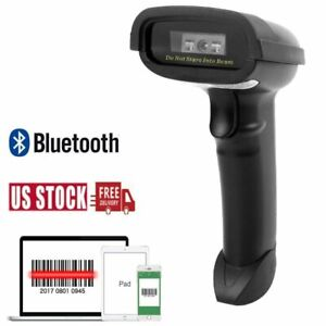 2 4ghz Automatic Wireless Laser Barcode Scanner Gun Reader Wifi Cordless For Pos