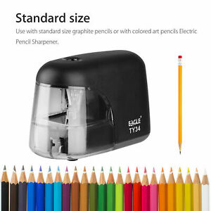 Electric Pencil Sharpener Automatic Battery Power Operated Desktop Office School