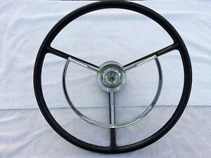56 1956 Ford Victoria Steering Wheel Horn Ring 18 See 12 Pictures Was Redone