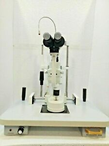 Free Shipping 2 Step Slit Lamp Zeiss Type With Accessories Ophthalmology