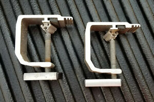 Four 4 Truck Cap Topper Camper Shell Mounting Clamps Heavy Duty Aluminum