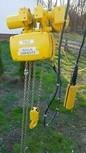 Yale 2 Ton Electric Chain Hoist With Motorized Trolley 230 460