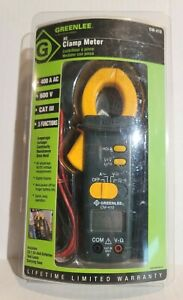 Greenlee Cm 410 400 amp Durable Ac Audible Data Clamp on Meter new