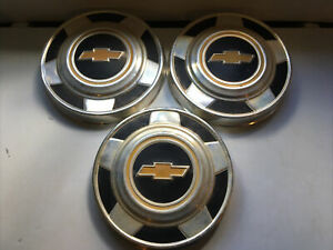 3 1973 1986 Chevrolet Truck Dog Dish Hub Caps
