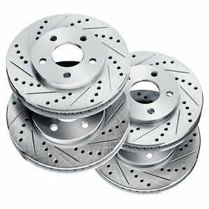 Brake Rotors full Kit Powersport Drill slot ford Mustang 1994 2004 Cobra