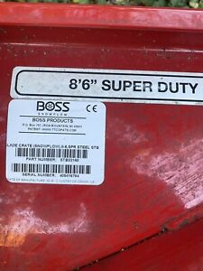 Boss Snow Plow Blade 8 6ft Never Used Super Duty Snow Removal Retail 6200