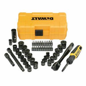 Dewalt Small Mechanics Set 50 Piece 3 8 Drive Polished Chrome New Uk