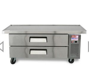 Chef Base 60 Refrigerated Grill Stand 2 Draw Equipment Table 2 Drawer