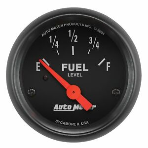 Autometer Z Series Electric Early Gm Chevy 0 30 Ohm Fuel Level Gauge 2 1 16