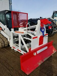 Winch Skid Attachment For Skid Steers