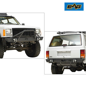 Eag Front Bumper And Rear Bumper Fit 1984 2001 Jeep Cherokee Xj