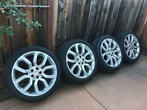 4 Geniune Range Rover Supercharged 22 Oem Wheels Tires Hse Autobiography Rims
