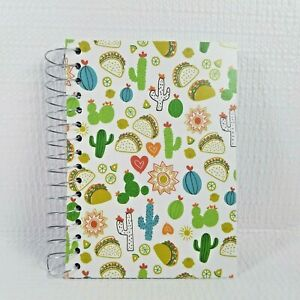 Cactus Tacos Spiral Fat Notebook Small Easy Carry Size 180 Sheets College Rule