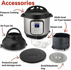 Instant Pot Duo Crisp Cooker 11 In 1 8 Qt With Air Fryer Roast Bake More