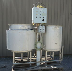 150 Gallon Stainless Steel Tanks Jacketed Set Of Two