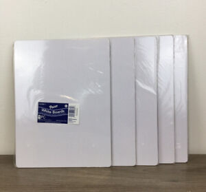 Brand New Lot Of 5 Pacon White Dry erase Baords One Sided 9 x12 Free Shipping