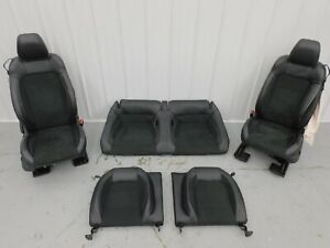2015 2017 Ford Mustang Shelby Gt350 Leather Suede Seat Set Powered Oem