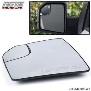 Mirror Glass With Spotter Driver Side Left Lh For Ford F150 Pickup Truck New