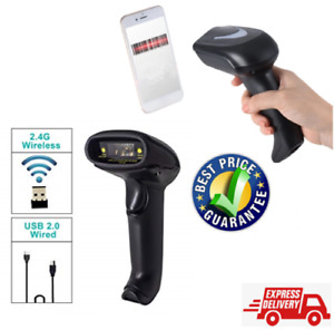 Automatic Wireless Laser Barcode Scanner Gun Reader Wifi Cordless For Pos 2 4ghz