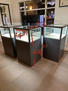 Retail Glass Display Cabinet Counter Glass Showcase Jewelry Display Case W Key