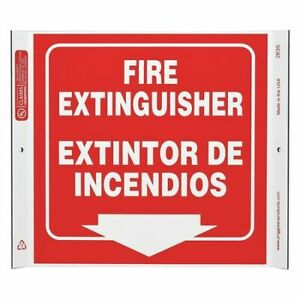 Zing 2635 Fire Extinguisher Sign corner Sign
