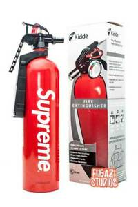 Brand New In Box Supreme Fire Extinguisher Kiddie Red White Box Logo Ss15 Rare