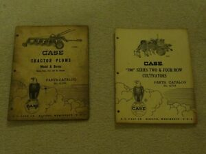 Lot Of 2 Vintage 1957 1961 Case Tractor Plow cultivator Parts Catalogs A748 a774
