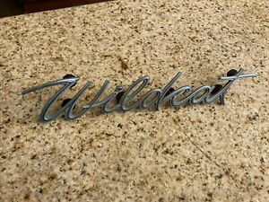 1963 Buick Wildcat Rear Quarter Emblem Script Single