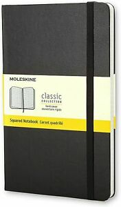 New Moleskine Black Pocket Squared Notebook Hard 192 Pg Classic Collection
