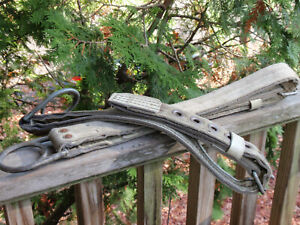 2 Vintage Miller Lineman s Pole Tree Climbing Belt Harness Safety With Ring