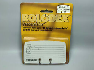 Rolodex 50 Petite Refill Cards 2 1 4 X 4 Necessities Classic 15359as