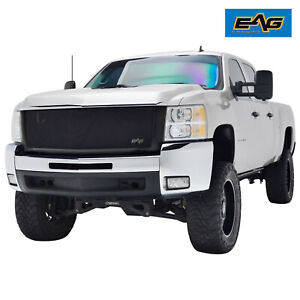 Eag Fits 07 10 Chevy Silverado 2500 Grille Stainless Steel Mesh Front Upper Hood Fits 2008 Chevrolet Silverado 2500 Hd