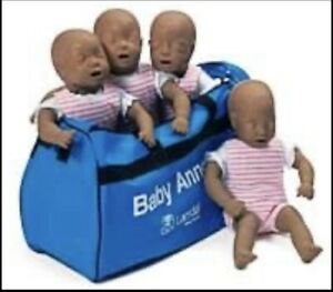 Laerdal Baby Anne 4 Pack Infant Cpr Manikins Excellent Condition