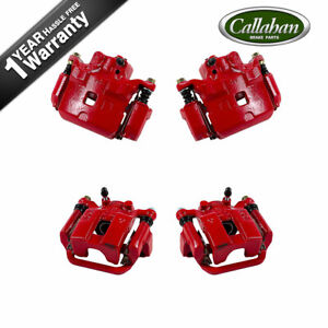 Front And Rear Red Calipers For 2002 2003 2004 2005 Infiniti G35 Nissan 350z