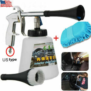 Us High Pressure Turbo Cleaning Gun Pro Car Seat Interior Cleaner Spray Kit