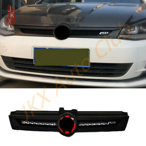 Front Bumper Honeycomb Grille Upgrade Sport Style For Vw Golf 7 Abt 2018 2020