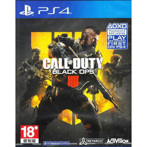 Call of Duty Black Ops 4 Playstation 4 PS4 Brand New Region Free $19.95