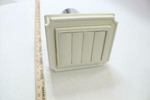 White Scallop Exhaust Vent 12 Square Inch 4 Pack