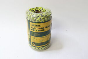 Farmily Fapw1113 Electric Fence Polywire Yellow And Black 200m 656 Ft