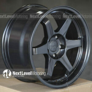 9six9 17x9 5x114 3 25 Carbon Gray Te37 Style Wheels Fits Nissan 350z 240sx G35