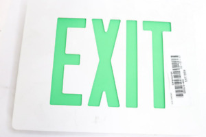 Dual Lite Cast Aluminum Led Exit Sign Green Letters
