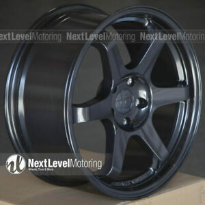 9six9 Six 1 18x8 5 5x108 35 Carbon Gray Te37 Style Wheels Fits Ford Focus St