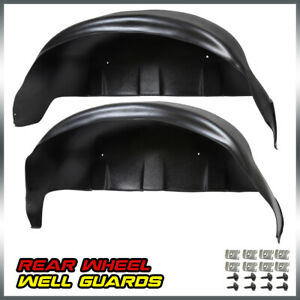 Pair For 2017 2018 2019 Ford F250 F350 Black Rear Wheel Well Liners Guards