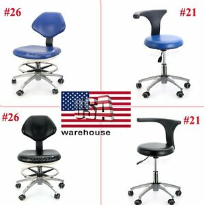 Ups Dental Doctor Assistant Mobile Chair Stool Adjustable Height 360 Rotation