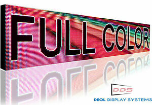 Easy To Use Mobile App Programmable 19 X 63 Digital Led Signs Full Color