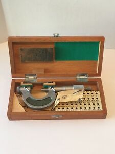 Mitutoyo Screw Thread Pitch Micrometer 126 137 126 136a 0 1 Clean Unit