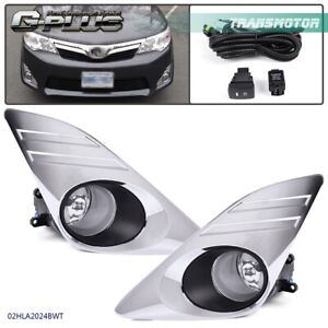 Bumper Driving Fog Light Chrome Cover For 2012 2014 Toyota Camry L Le Xle