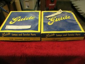 1954 Chevrolet Belair Nos Gm Pair Guide Head Light Rims W Retainers New In Box