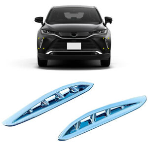 Chrome Front Grille Air Vent Cover Trim For Toyota Harrier Venza Xu80 2020 2021