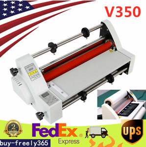 13 Digital Control Thermal Hot cold Roll Laminator Laminating Machine 350mm Us